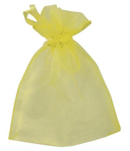 Gele bruiloft zakjes van organza
