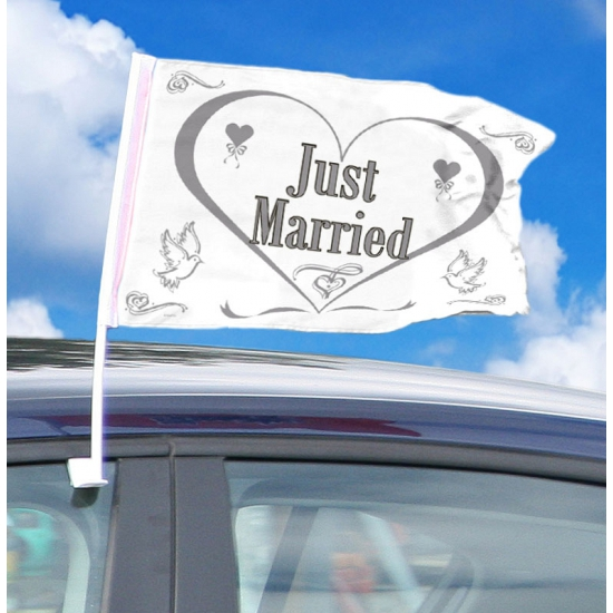 Just married decoratie autovlag