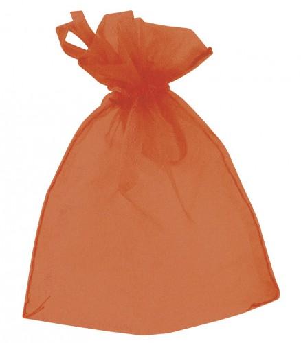 Oranje bruiloft zakjes van organza