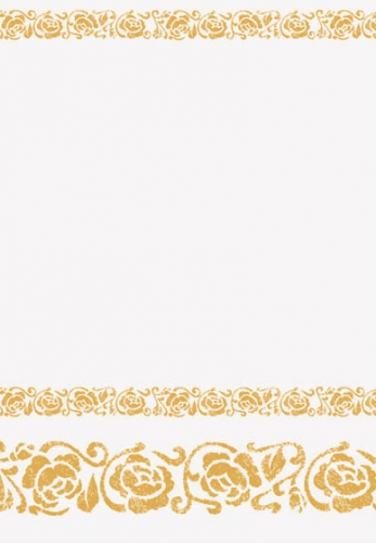Papieren tafelkleed wit met goud
