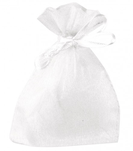 Witte bruiloft zakjes van organza
