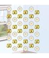 Hangdecoratie slingers jubileum 50 jaar