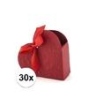 30x bruiloft kado doosjes rood hart