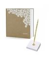 Bruiloft gastenboek met luxe pen incl houder
