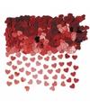 Rode hartjes confetti 10 zakjes