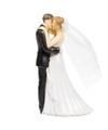 Trouwfiguurtjes bruidspaar met trouwboek taart decoratie 14cm